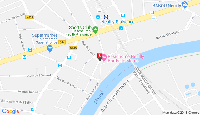 Location and Directions, Residhome Neuilly Bords de Marne
